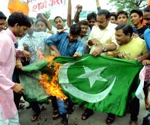 BJP's protest against Pakistan