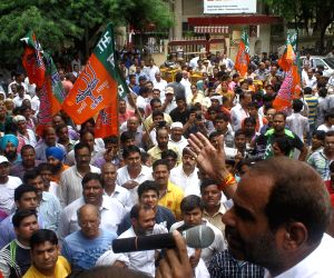 BJP demonstration near BSES office