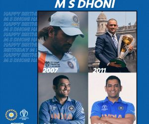 "Board of Control for Cricket in India (BCCI) took to Twitter to wish the wicketkeeper-batsman and said: ""Four World Cups, four different looks, which one do you like the most? Take a pick. Happy Birthday Dhoni."""