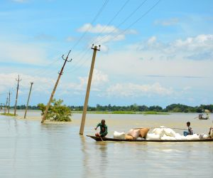 Ashighar (Assam): Flood