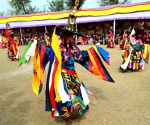 Artists dance for world peace at Bhutan temple