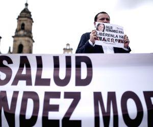 COLOMBIA BOGOTA JOURNALIST PROTEST