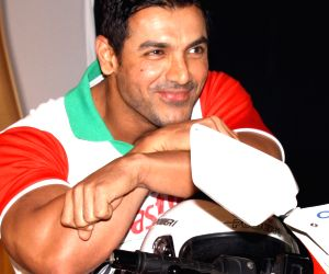 John Abraham at a promotional