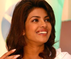 "Bollywood actor Priyanka Chopra at a press-meet for the NDTV second wave of "" Green Campaign"" which includes the programme "" Greenathon"", in New Delhi on..."