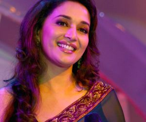 "Bollywood actress Madhuri Dixit at the launch of ""Food Food"" foundation in New Delhi on Mon 7 Feb 2011."