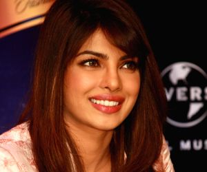 Priyanka Chopra at a promotional event of her debut song lnternational Single '' In My City