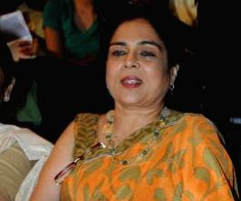 : Bollywood actress Reema Lagoo during the book launch of Sarita Davare and Sanjeev Kapoor new book Live Well Diet in Mumbai on May 3, 2013. (Photo: IANS).