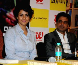 Gul Panag and Manoj Bajpayee at the launch of Abhisar Sharma's book 'The Edge of the Machete'