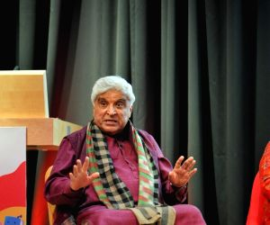 Bollywood lyricist Javed Akhtar at a session of Zee JLF at The British Library.
