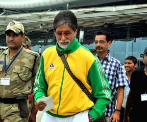 Amitabh Bachchan in Bhopal for shooting of the film Satyagraha