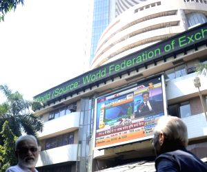 Global cues lift equity indices; Sensex ends over 200 points higher