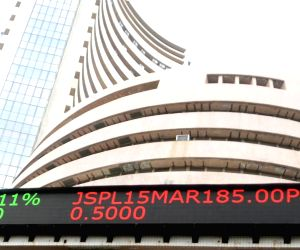 Record low rupee subdues equity indices; banking stocks fall