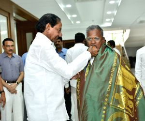 Kaleshwaram Devasthanam new chief meets KCR