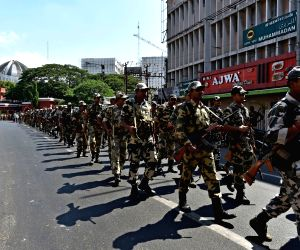 Flag march ahead of Tamil Nadu assembly polls