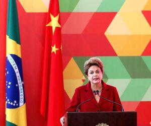 BRAZIL BRASILIA CHINESE PREMIER BRAZILIAN PRESIDENT PRESS CONFERENCE