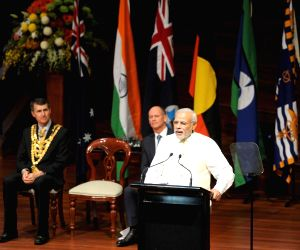 Brisbane (Australia): PM Modi at the Civic Reception
