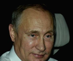 Brisbane (Australia): Vladimir Putin arrives at Brisbane Airport to attend the coming G20 Summit