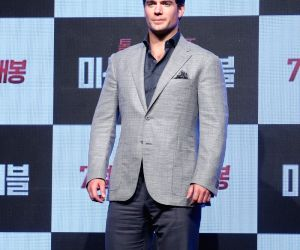 British actor Henry Cavill in Seoul
