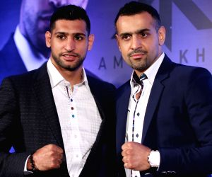 Amir Khan at Super Fight press conference