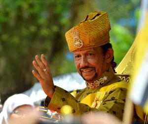 BRUNEI-BANDAR SERI BEGAWAN-SULTAN-GOLDEN JUBILEE-CELEBRATION