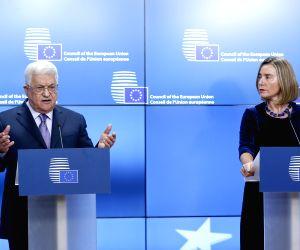 BELGIUM BRUSSELS EU PALESTINE ABBAS VISIT