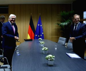 BELGIUM-BRUSSELS-EU-TUSK-GERMANY-PRESIDENT-MEETING