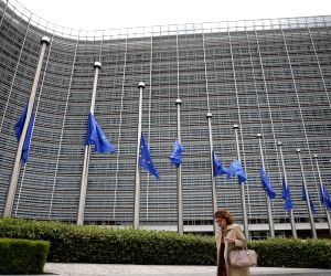 BELGIUM BRUSSELS EU MOURN UK ATTACK VICTIMS