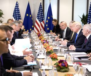 BELGIUM BRUSSELS EU USA TRUMP MEETING