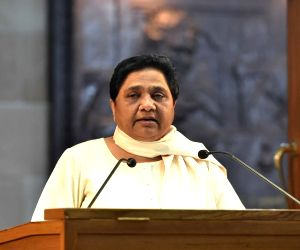 BSP chief Mayawati addresses a press conference in Lucknow on June 2, 2018.