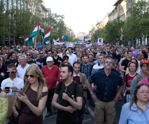 HUNGARY-BUDAPEST-DEMONSTRATION-GENERAL ELECTIONS