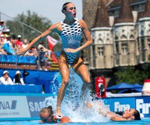 HUNGARY BUDAPEST SYNCHRO FINA WORLD CHAMPIONSHIPS WOMEN TEAM FREE FINAL