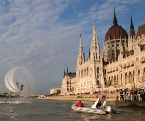 HUNGARY BUDAPEST FLYBOARD EXTREME SPORT