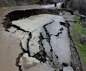 Landslide in Budgam