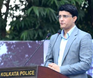 Sourav Ganguly during a police programme