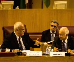 Secretary general of Arab League, attend a meeting
