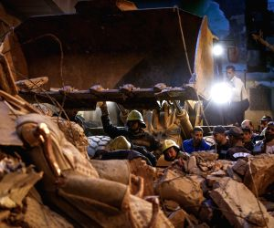 EGYPT CAIRO RESIDENTIAL BUILDING COLLAPSE