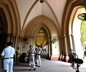 Calcutta High Court wears a deserted look as lawyers go on a strike after a scuffle broke out between the employees of Howrah Municipal Corporation (HMC) and lawyers of Howrah District ...
