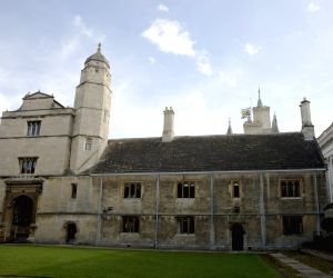 CAMBRIDGE, March 14, 2018 - A flag flies at half mast over Gonville and Caius College at the University of Cambridge following the death of Professor Stephen Hawking, in Cambridge, Britain, on March ...