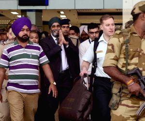 Harjit Singh Sajjan at Amritsar airport