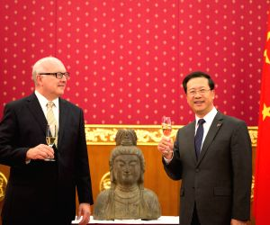AUSTRALIA-CANBERRA-CHINA-QING DYNASTY STATUE-RETURN