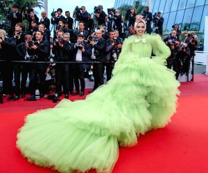 "CANNES, May 17, 2019 - Indian actress Deepika Padukone poses on the red carpet for the premiere of the film ""Dolor y Gloria"" at the 72nd Cannes Film Festival in Cannes, France, on May 17, ..."
