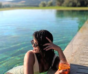 Caption: Indian actress Priyanka Chopra Jonas is making the best use of her vacation in Florence, Italy as she makes her American pop singer husband Nick Jonas click her stunning photographs. Priyanka on Sunday shared a string of photographs of her p