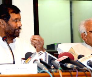 Haryana CM, Ramvilas Paswan address press conference