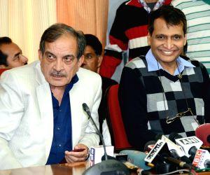 Suresh Prabhu, Birender Singh file nomination papers for RS election