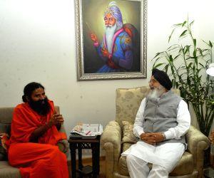 Ramdev calls on Punjab CM