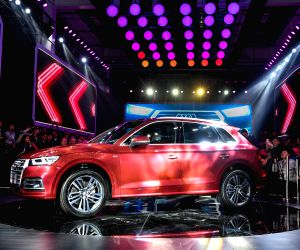 CHANGCHUN, March 29, 2018 - An Audi Q5L SUV is shown at the launching ceremony of FAW-Volkswagen's new Audi Q plant in Changchun, northeast China's Jilin Province, March 29, 2018. FAW-Volkswagen ...