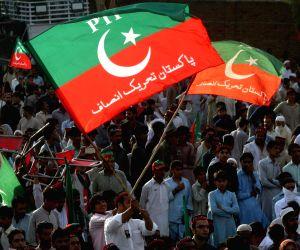 PAKISTAN CHARSADDA PTI ELECTION CAMPAIGN RALLY