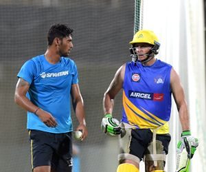 IPL practice session - Chennai Super Kings