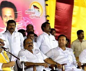 Karunanidhi during birthday celebrations of Stalin