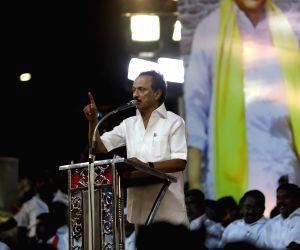 Chennai:Dravida Munnetra Kazhagam (DMK) chief MK Stalin during a party rally in Chennai on April 1, 2019. (Photo: IANS)